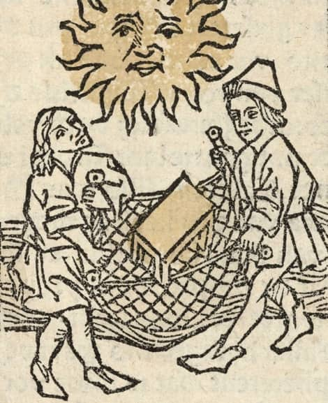 Couple with Net (Anonymous, about 1470)