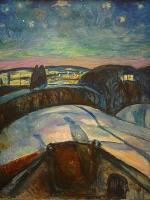 Soul-based psychotherapy - Starry Night, Edvard Munch
